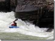 Retired. Navy Capt. Dave Robey tackles the Potomac River's winter rapids. Photo courtesy of Dave Robey